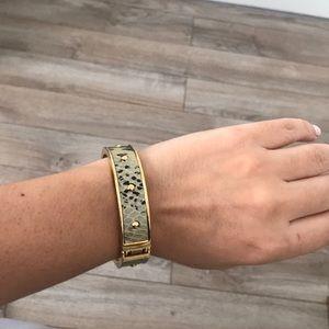 Beautiful gold and snake skin bangle